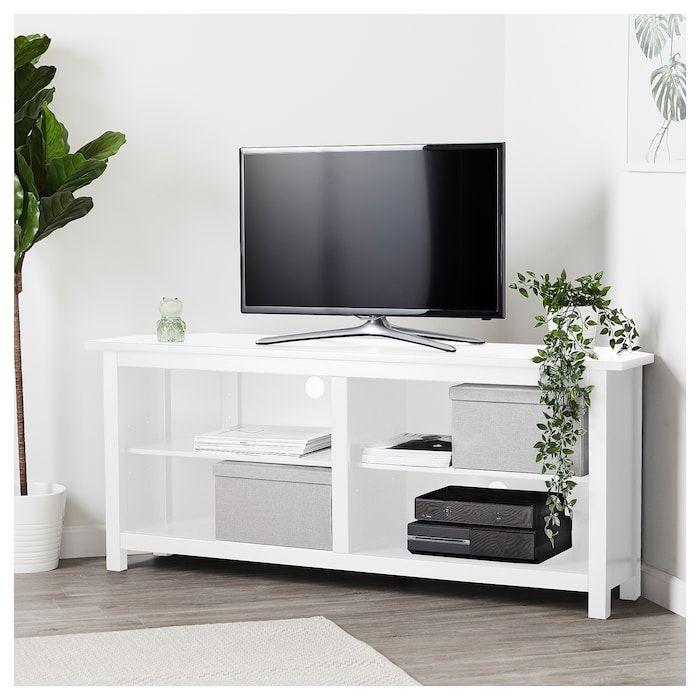 Hemnes Corner Tv Bench White 57 7 8x24 Meuble Tele Angle Meuble Banc Tv