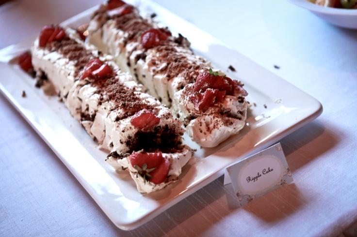 Dessert buffet- Chocolate ripple cake