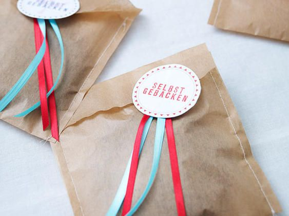 Cookies im Backpapier-Kuvert