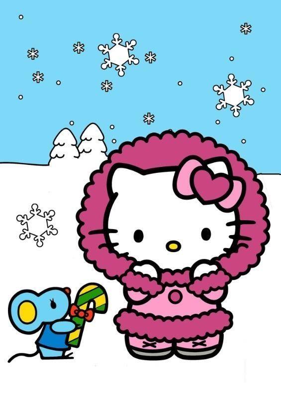 Hello Kitty Winter | www.pixshark.com - Images Galleries ...