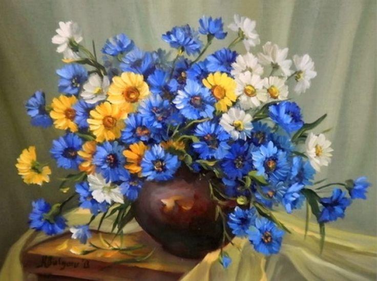 cuadros-de-flores-pintadas-al-oleo | Cuadros óleo | Pinterest