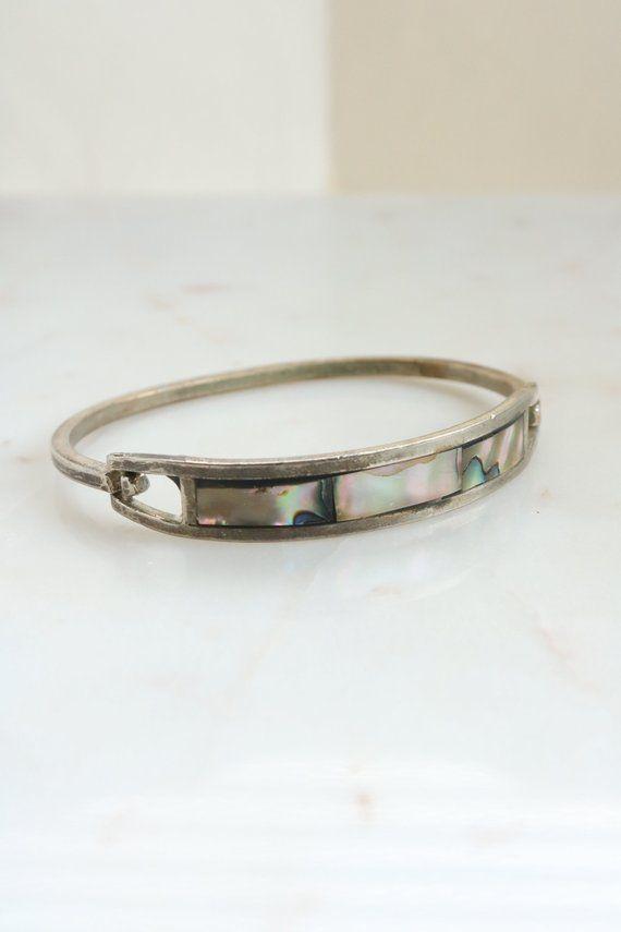 3b424ffa8 Vintage Abalone Cuff Bracelet - Mexico Alpaca Bracelet | Products ...