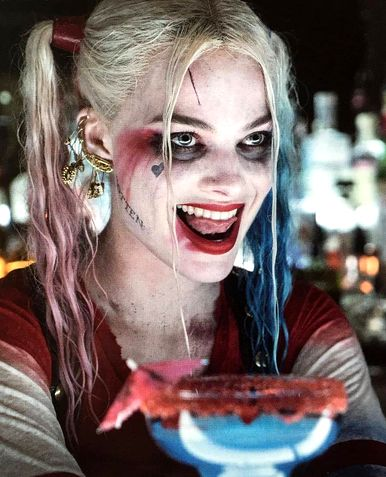 "You lock up the weirdos, the crooks and the geeks!  Yer a hero to all of the boys in blue - But this time, baybee, the joke's on YOU!"" -Harley Quinn"