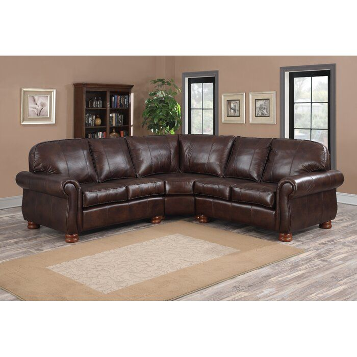 Darby Home Co Beldale Symmetrical Leather Sectional Wayfair Sectional Sofa Sectional Sofa Couch Sectional