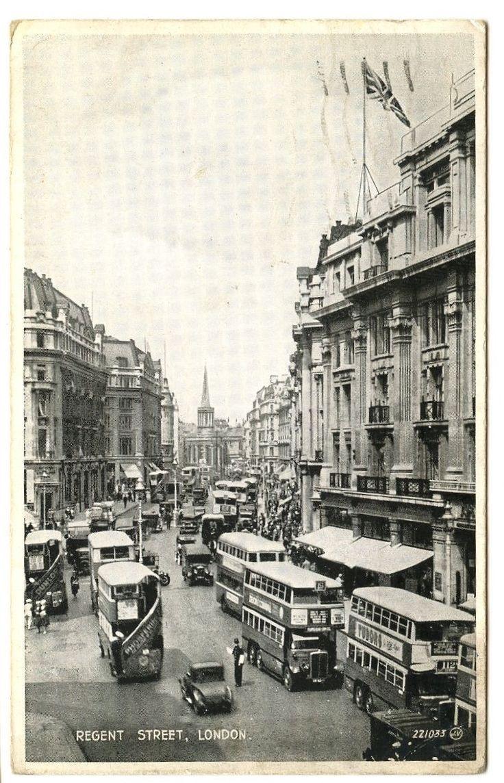 Old Rare Postcard Regent Street London Dated 1935 (Ref: AD516) | eBay dealer gbspecialist