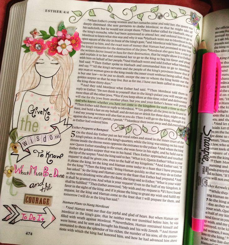Bible journaling, Esther 4:14