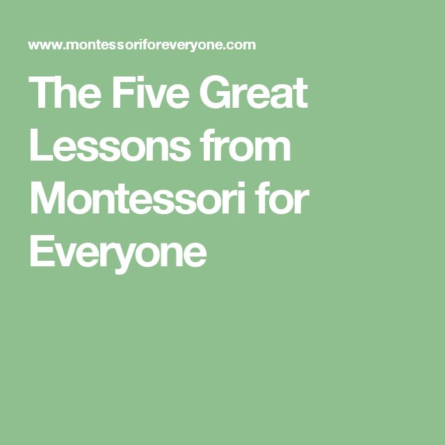 The Five Great Lessons from Montessori for Everyone