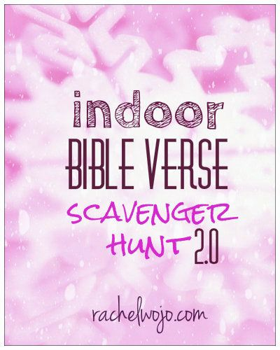 Indoor Bible Scavenger hunt - A fun free printable to read the hints,look up the Bible verse, solve the question, and even photo the answer!
