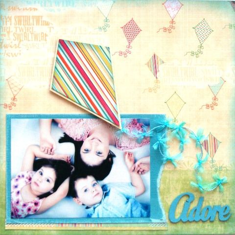 Adore page created with Webster's Sunday Picnic collection by Teena Hopkins for My Scrappin' Shop.