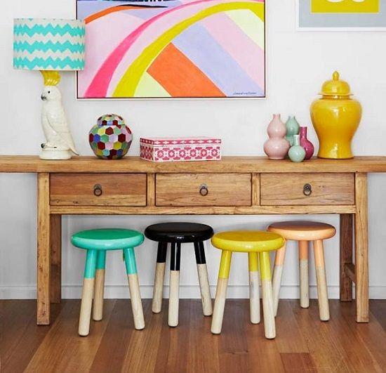 Amazing Interior Design Bedroom For Kids Lime Green Bedroom Decor Fox Bedroom Accessories Bedroom Decor Black Furniture: 11 Best Dip Dye / Dipped Furniture Images On Pinterest