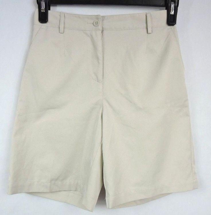 Talbots Petites Women Beige Shorts Size 4 #Talbots #BermudaWalking