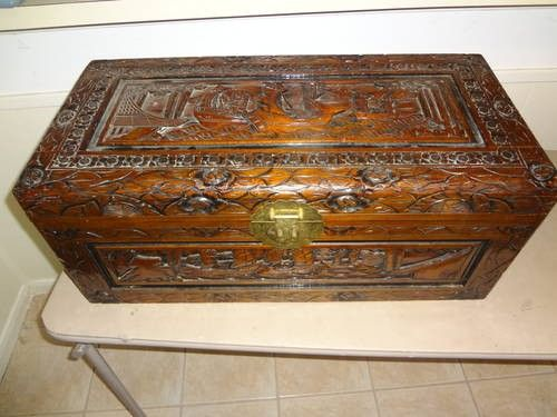 hand carved made large chinese wood trunk drawer chest asian furnitur for sale in houston texas. Black Bedroom Furniture Sets. Home Design Ideas