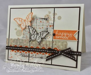By Wendy Weixler - Wickedly Wonderful Creations. #stampinup #papillonpotpourri #gorgeousgrunge #WashiTape