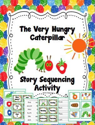 The Very Hungry Caterpillar~ Story Sequencing Activity from Creative Lesson Cafe on TeachersNotebook.com -  (9 pages)  - Your little ones will really enjoy this sequencing activity with the favorite story, The Very Hungry Caterpillar by Eric Carle! It's a great activity to use with a thematic unit on spring or butterflies or for an author study during Read Across Ameri