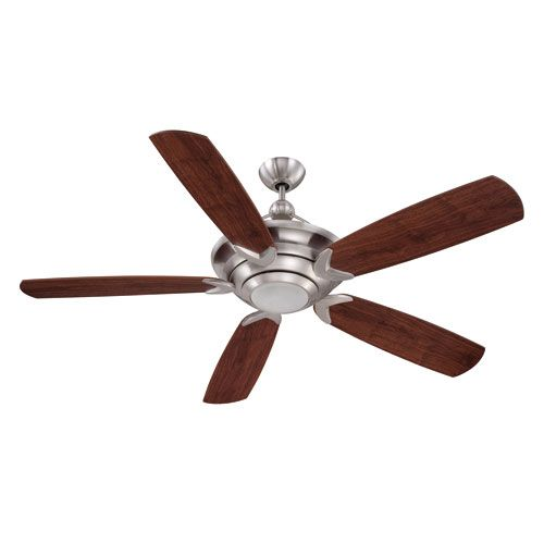 Vesta Stainless Steel 60-Inch One-Light Ceiling Fan with Five Blades