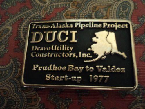 Trans Alaska Pipeline Project Solid Brass Belt Buckle Anacortes Brass Works | eBay