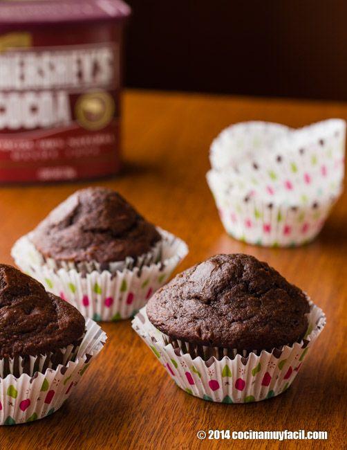 Muffins de chocolate. Receta | cocinamuyfacil.com