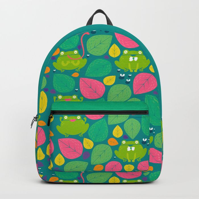 "Coolstuff | backpack  ""Frogs"" by Maria Jose Da Luz designs 