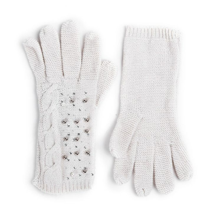 Autumn/Winter 2014 | FULLAHSUGAH BEAD PEARL STONE KNIT GLOVES | €12.90 | 4460100613 | http://fullahsugah.gr