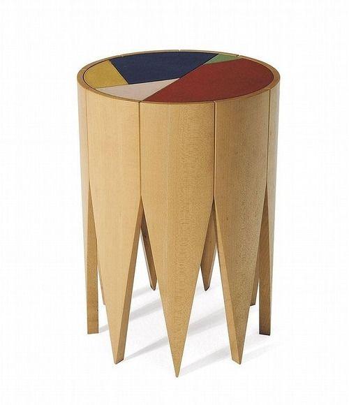Fortunato Depero, Remida stool, 1922. Editions Zanotta, Milano.