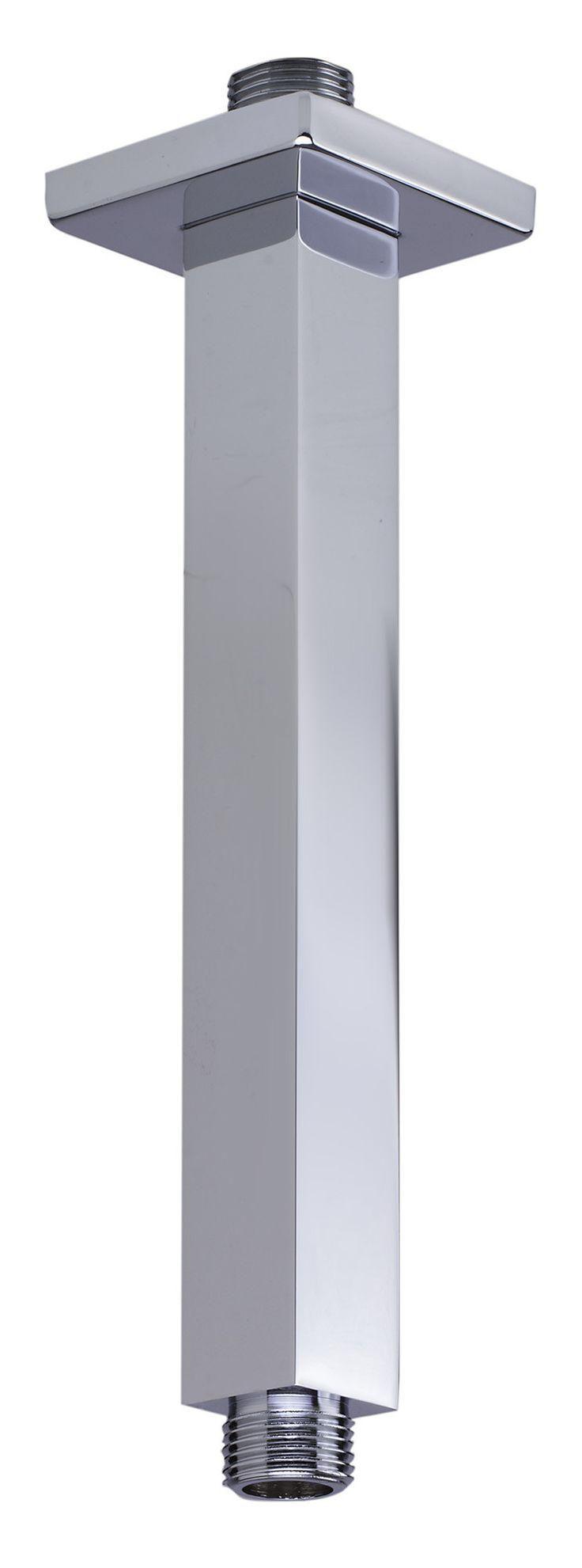 "ALFI brand AB8SC-PC 8"" Square Ceiling Mounted Chrome Shower Arm for Rain Shower Heads"