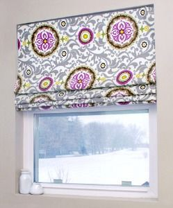 Free Curtain Patterns to Sew Use your old mini blinds to make a no-sew Roman shade!!