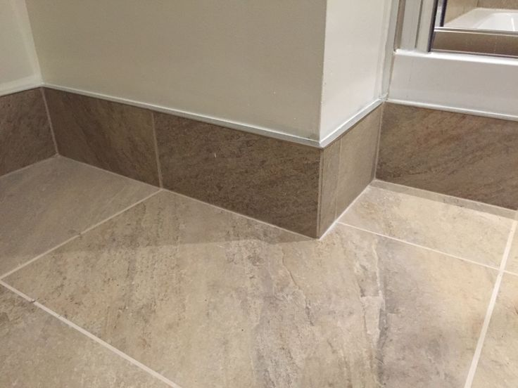 Tiled Skirting Board With Chrome Trim In 2019 Tile