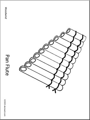 Printable Pages Group Woodwind Instrument Coloring