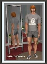 "Mod The Sims - Borat's ""High Five"" Shirt & Shorts for ""The Huge Bodybuilder""~Oneblondmomma"