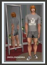 "Mod The Sims - Borat's ""High Five"" Shirt & Shorts for ""The Huge Bodybuilder""~Oneblondmomma"