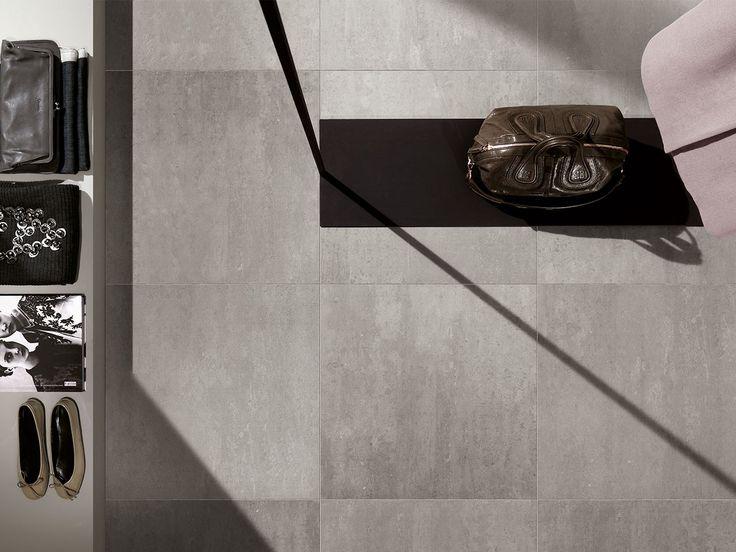 Pavimento In Gres Porcellanato Rettificato Colorato In Massa, Serie DISTRICT, Effetto Cemento Minimal Contemporaneo. Formato: 30x60. Colore: Grigio