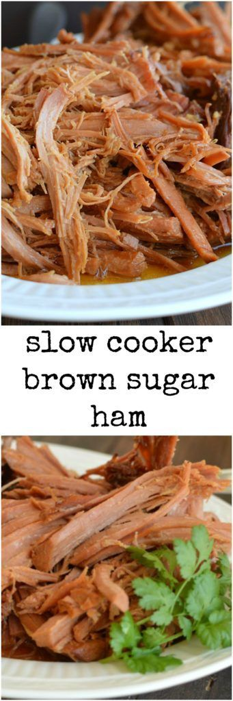 Slow Cooker Brown Sugar Ham shows up at Thanksgiving, Christmas, Easter, Sunday dinner and weeknights. It's my go to ham recipe!