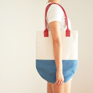 Rocket Pop - Semi-Circle Colorblock Beach Tote