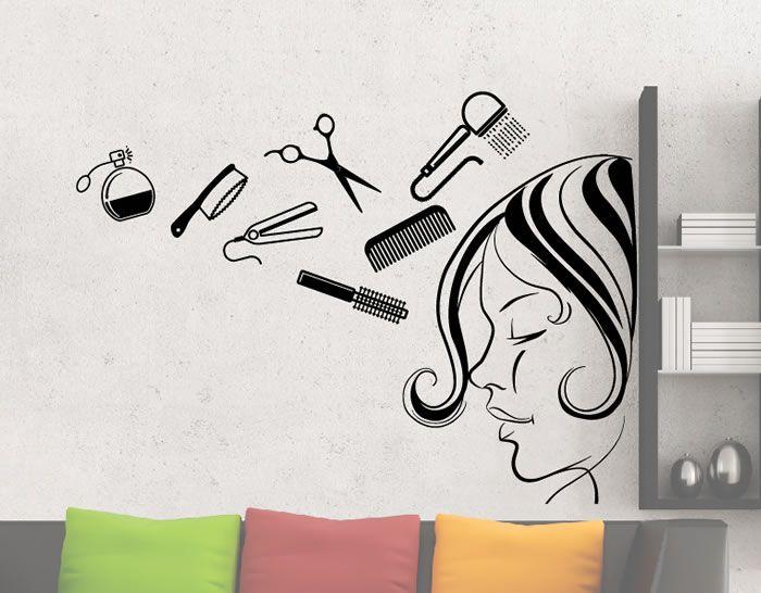 Mejores 76 im genes de vinilos y pegatinas para for Decoracion en peluquerias