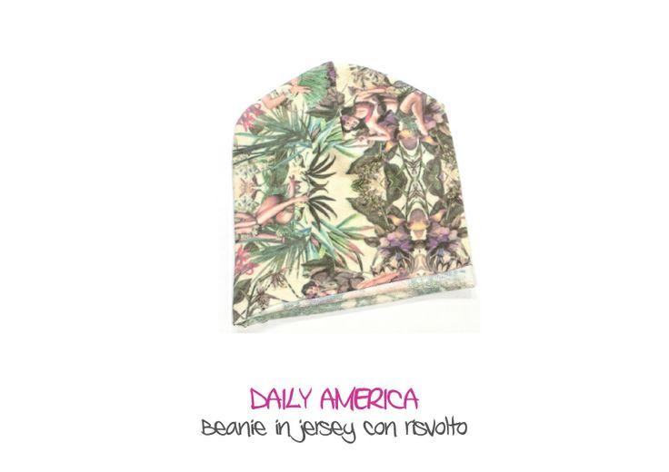 DAILY AMERICA - Beanie in jersey con risvolto