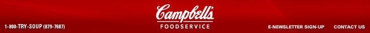 Campbell Foodservice.com 141-480 mg of sodium recipes using campbells healthy request soups.