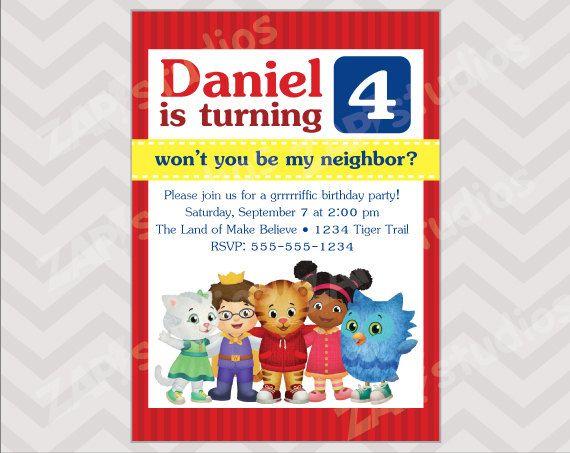 Daniel Tiger Birthday Party Invitation Digital File By Zapstudios