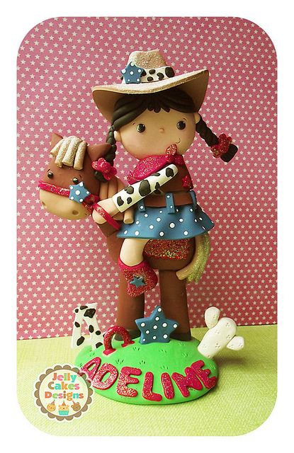 Classic Cowgirl keepsake cake topper by Jelly Cakes Designs