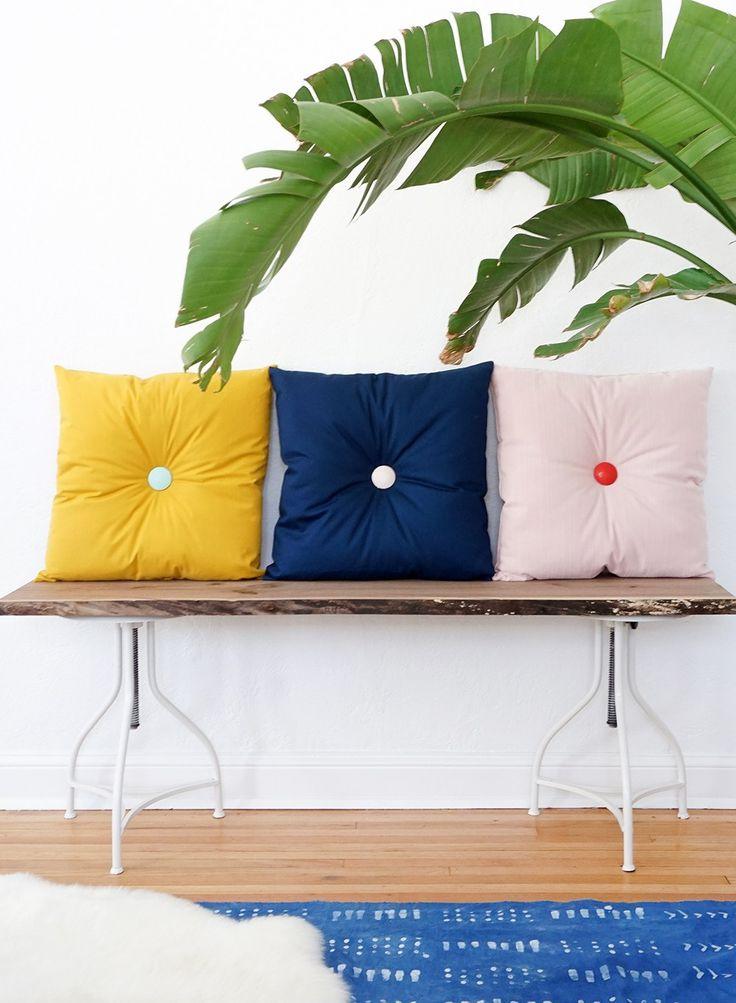 Diy Tufted Throw Pillow : Colorful DIY Tufted Pillows Cloths, Home decor and Colour