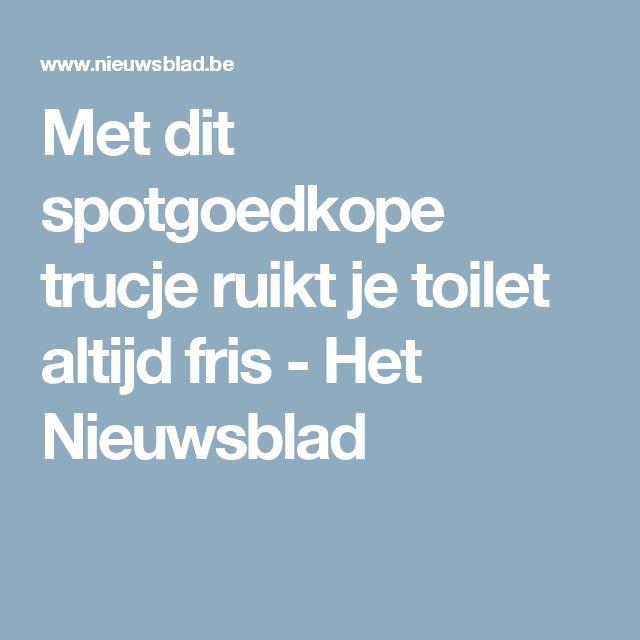 Met dit spotgoedkope trucje ruikt je toilet altijd fris  - Het Nieuwsblad