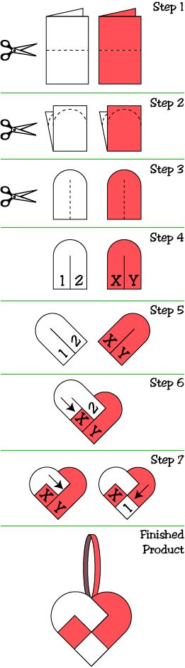 instructions for making woven valentine heart basket from construction paper