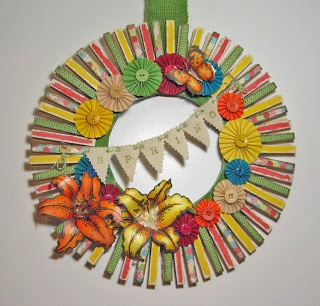 Spring Clothespin Wreath Using Stampendous Stamps By Annette Witherspoon At A Spoon Full
