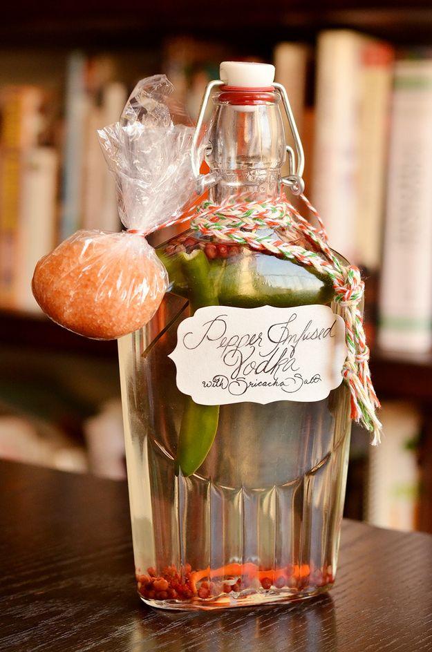 How To Make Spicy Pepper Vodka And Sriracha Salt