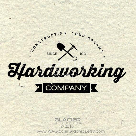 Premade Custom Logo Typography Logo by WAGlacierGraphics on Etsy