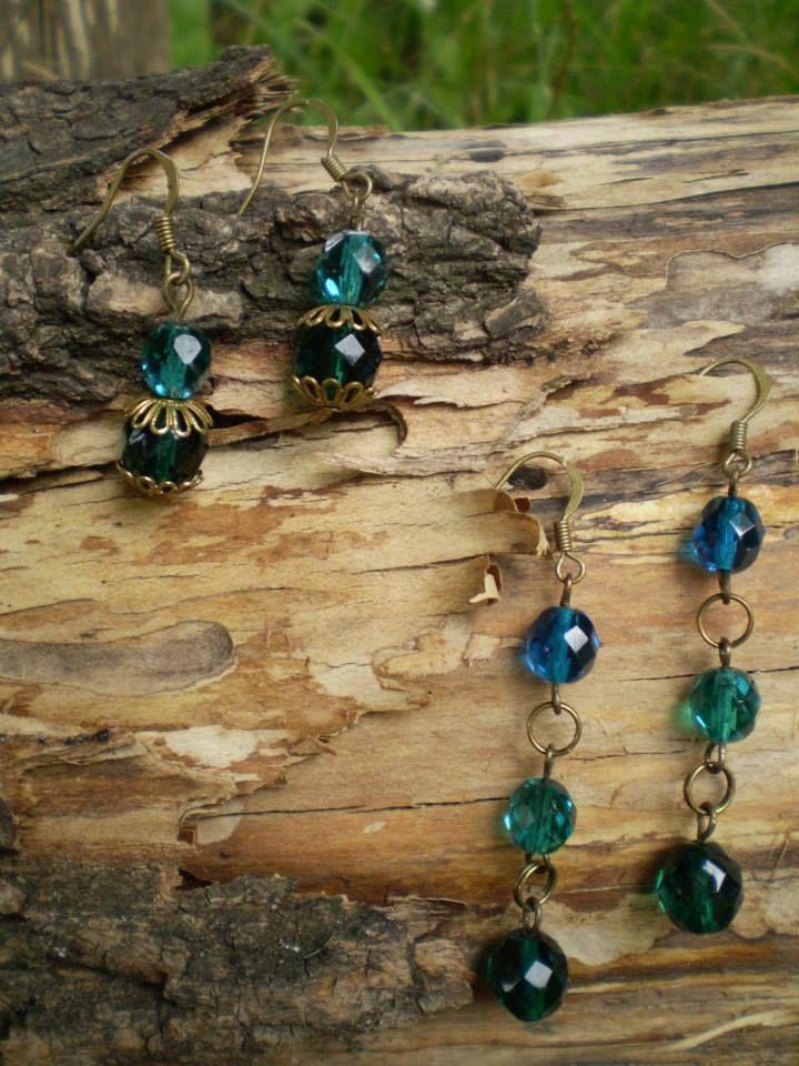 """Umi Kei earrings """"Emerald""""  Umi Kei earrings """"Sargasso Sea"""""""