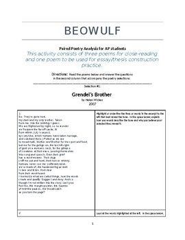 Close reading essay beowulf