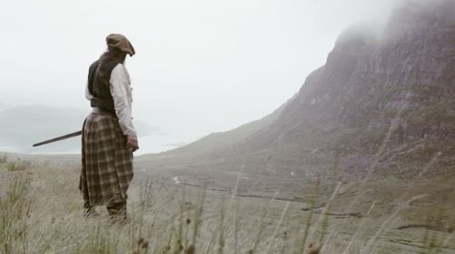 """Àdhamh Ó Broin tweeted this link: """"Bealach meaning the pass, as in mountain pass, filmed in the area called bealach na ba, an old drovers road. The pass a journey to home . . .the land never changes it's the same today as for an 18th century highlander. . .secure the country's future as we are merely custodians of this ancient land. The reference to the sheathing of the sword depicting that the pen is mightier than the sword, contemporary times merely need ink not blood to achieve…"""