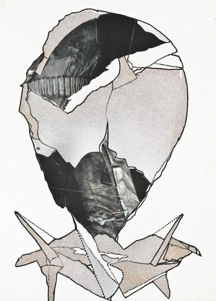 Janoušková Věra   Pařížské hlavy 2, 1992   Aukce obrazů, starožitností   Aukční dům Sýpka