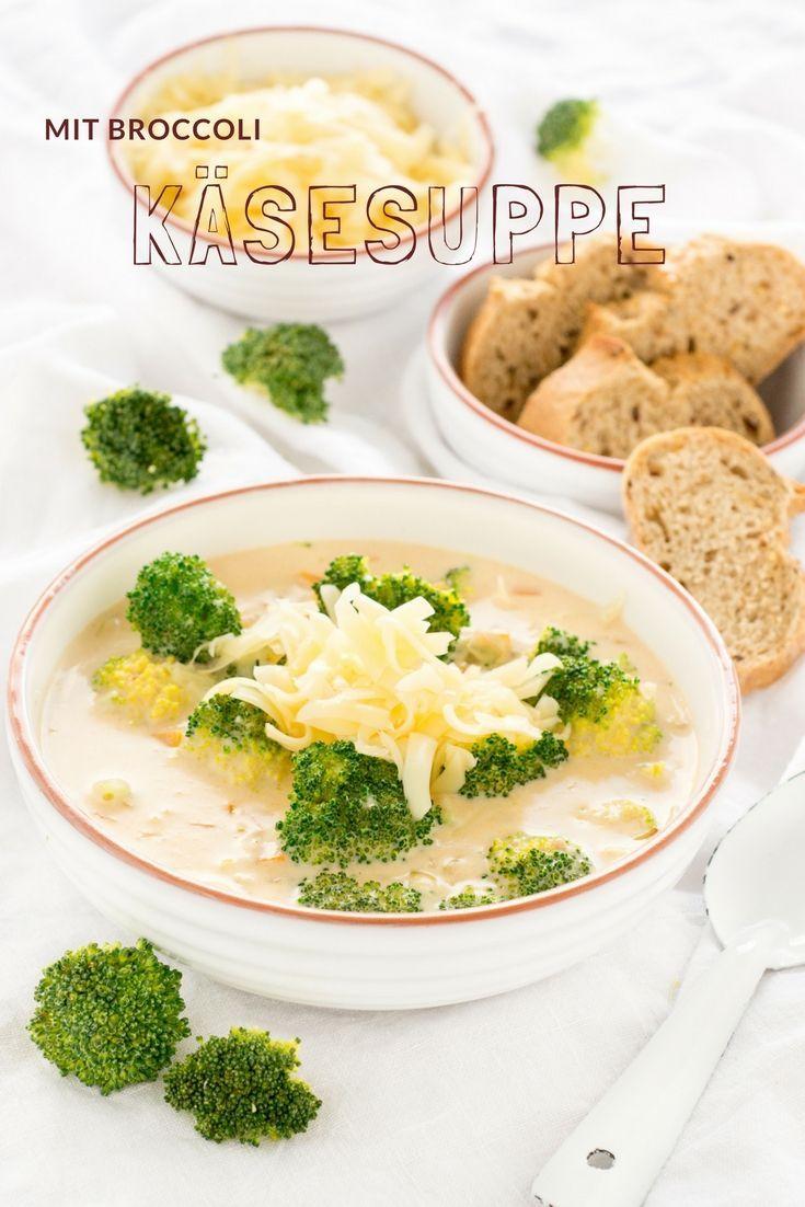 Suppen Rezepte: Käsesuppe mit  Brokkoli - Cheese soup with broccoli. Leicht und schnell gemacht und so lecker! Das Rezept ist von herzelieb  #foodblog #foodblogger #herzelieb