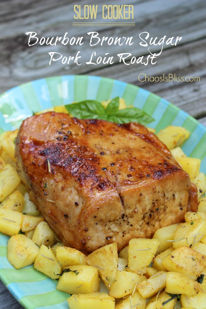 slow cooker recipes pork bourbon brown sugar pork loin roast cooker recipe 30676